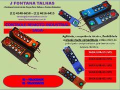 Rádio Controle Remoto SAGA Industrial J Fontana Talhas MF
