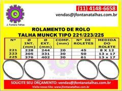 Rolamento de Rolo Talha Munck 221/223/225 J Fontana Talhas MF