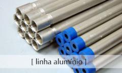 Eletrodutos alumínio.