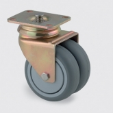 Roda giratória com travão central total