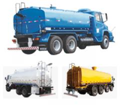 Tank trucks thermoses for drinking water