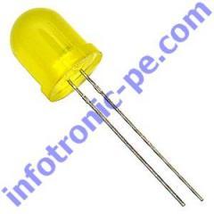 LED 10mm Difuso Amarelo