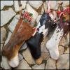 Meias naturais do Natal da cor