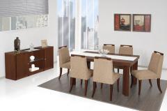 Mesa de Jantar Evidênce com Vidro