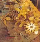 Flores Feitos de Madeira