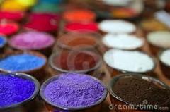Pigmentos coloridos.