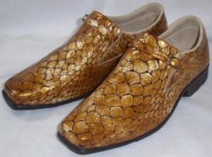 Sapato Masculino Couro Legítimo Verniz Peixe -