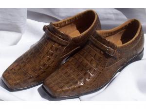 Sapato em Couro Legítimo Croco / Jacaré - Direto