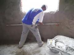 Mistura para nivelar paredes