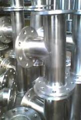 Conexões para tubos de metal plana