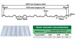 Telha zincada (galvanizada)