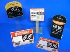 Os produtos feitos de acrílico: etiquetas de