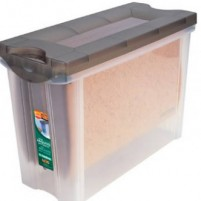 Caixas de polietileno, plástico e borracha
