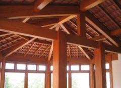 Vigas de madeira estilizado