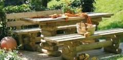 Movies de madeira de jardim