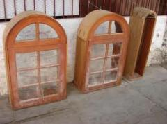 Janelas e caixas de madeira