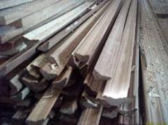Meia cana em madeira
