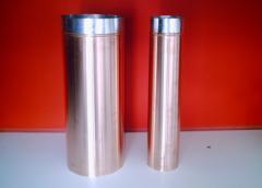 Cinzeiros de aço inox para de vários tamanhos e