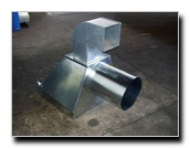 Estruturas metálicas para sistemas de ventilação