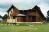 Casas pré-fabricadas da madeira maciça
