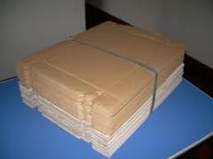 Caixas de papelao desmontadas