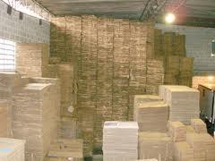 Caixas de papelao semi-usadas