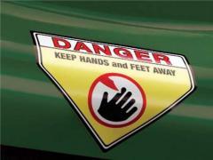 Etiqueta durável de advertência