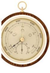 Barômetro e termômetro