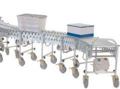 Transportador motorizado de roletes