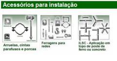Acessorios para instalacao