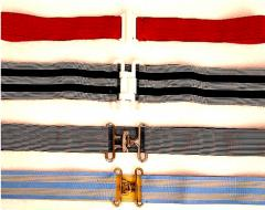 Fitas elásticas para cintos ou carneiras de bonés