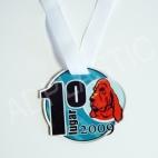 Medalhas cães em acrílico 1