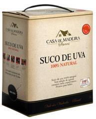 Suco de Uva Casa de Madeira Bag In Box 3 Litros