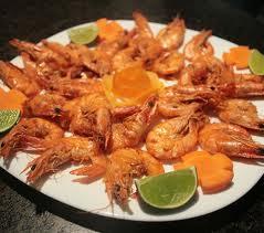 Pratos de camarão