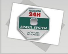 "Placa ""Protegido 24hs"""