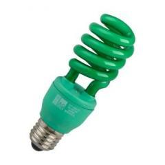 Lâmpada espiral fluorescente 127V 17W verde AG