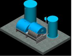 Estação compacta para tratamento sanitário