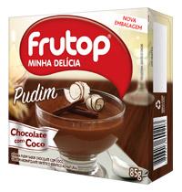 Pudim Chocolate com Coco