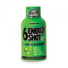 6 Energy Shot 60 ml Frutas Vermelhas