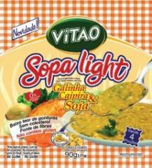 Sopa Light Galinha Caipira e Soja.