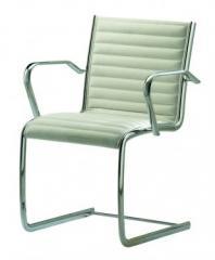 Cadeira diretor com base fixa cromada