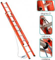 Escada extensivel fibra