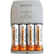 Rearregador de Pilhas Sony c/ 4 Pilhas