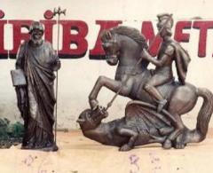 Imagens e bustos em bronze
