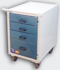 Carrinho gaveteiro longitudinal com armário - CGL