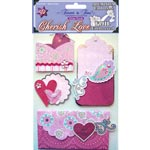 Adesivos Metalicos 3D Cherish Love