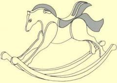 Cavalo de Balanço em Madeira