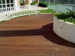 Deck de madeira de Garapeira com perfil