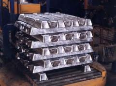Lingotes de alumínio.