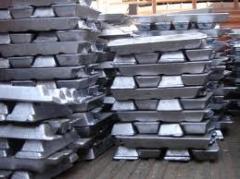 Lingotes de alumínio primário.